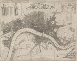 A mapp of the cityes of London & Westminster & burrough of Southwark with their suburbs and the addition of the new buildings